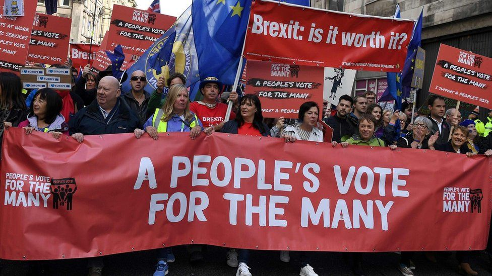 A pro-EU march in Liverpool during Labour Party Conference