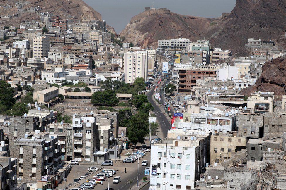 General view of downtown Aden, Yemen (31 October 2019)