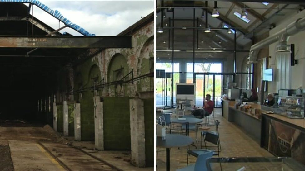 An old, Victorian rail shed has been turned into a new student union building.