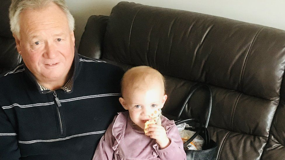 Stephen Pollard and his granddaughter Lacie