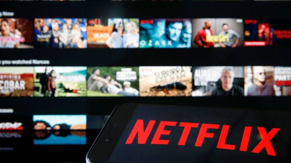 Netflix screen and logo