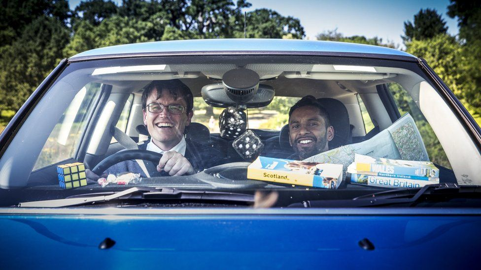 Monkman and Seagull in car