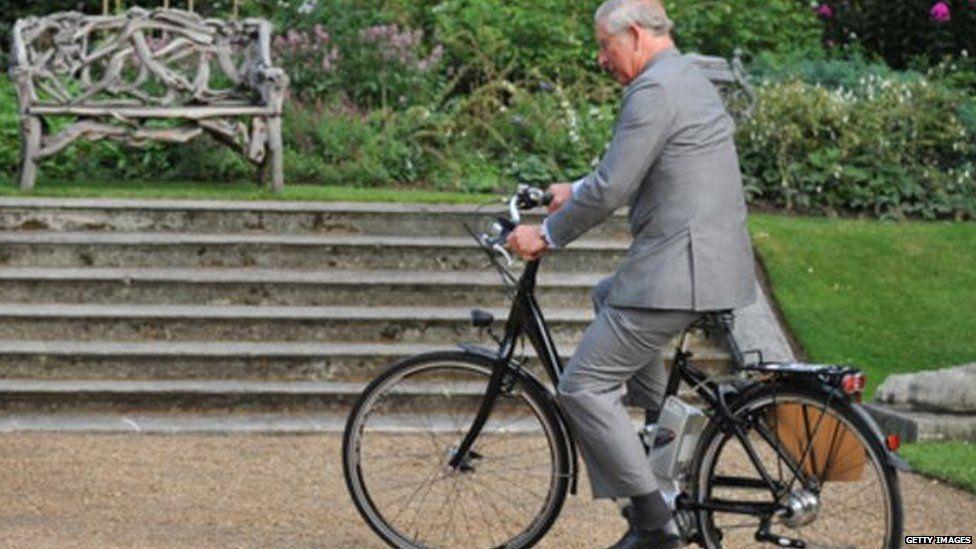 Prince Charles on an eBike