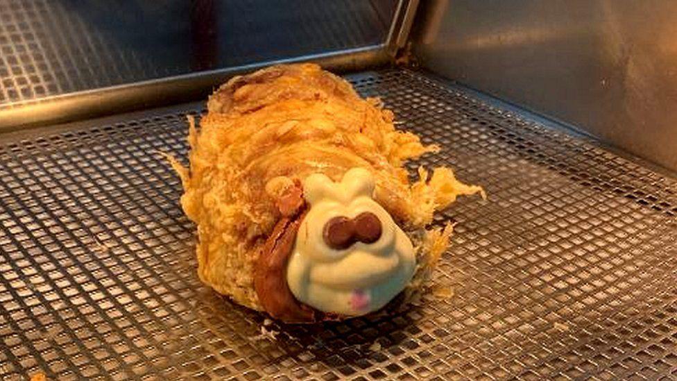 Colin the deep fried caterpillar cake