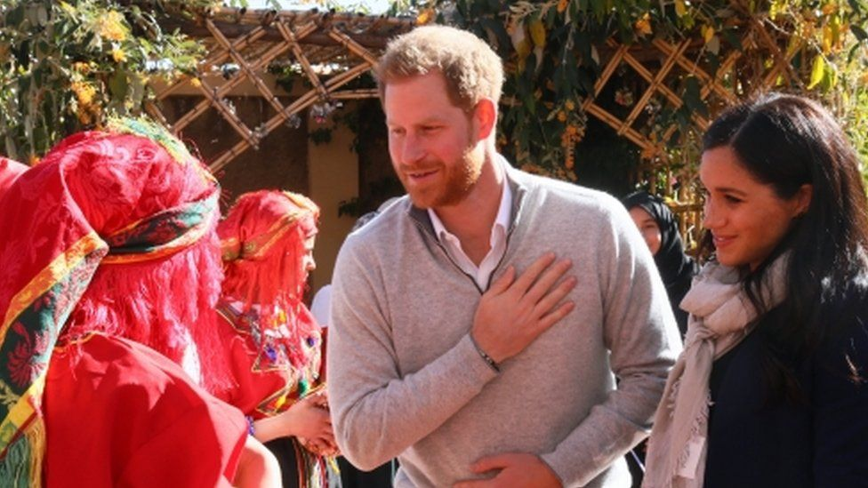 """The Duke and Duchess of Sussex visit the """"Education For All"""" boarding house for girls aged 12 to 18 in Morrocco"""
