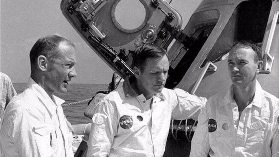 Buzz Aldrin, Neil Armstrong and Michael Collins