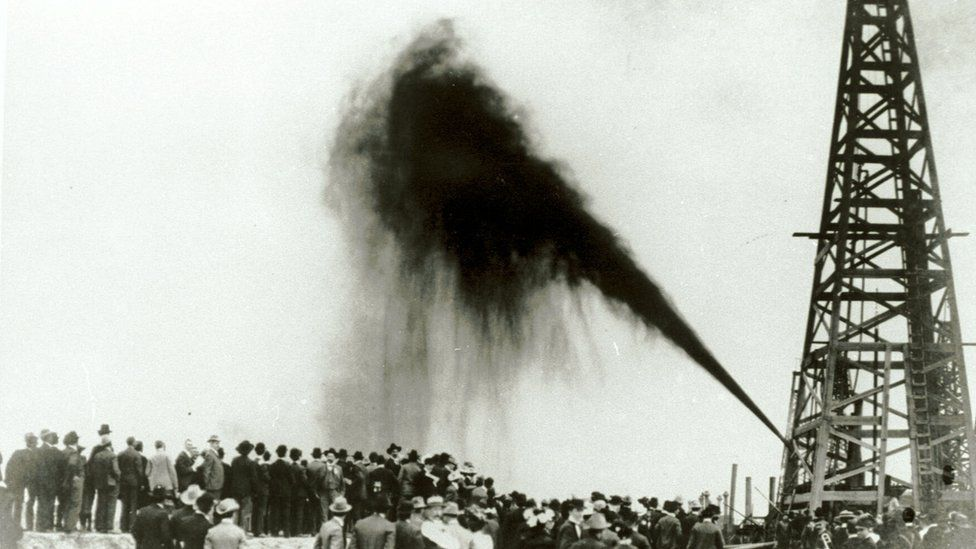 US oil extraction in 1901
