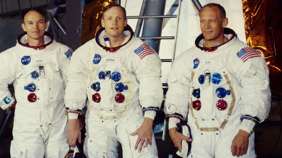Michael Collins, Neil Armstrong and Buzz Aldrin
