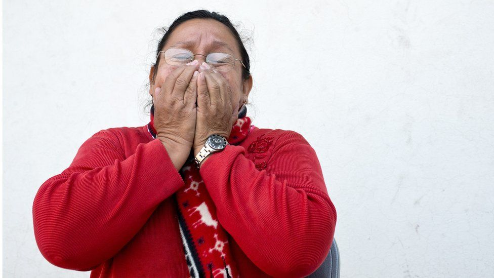 Anita Celaya, is the representative of the Committee of Relatives of Migrants Died and Disappeared (Cofamide) in El Salvador. She joined the organization after her son Rafael Alberto Rolin, disappeared while crossing Mexico on route to the US sixteen years ago. Photo: Encarni Pindado