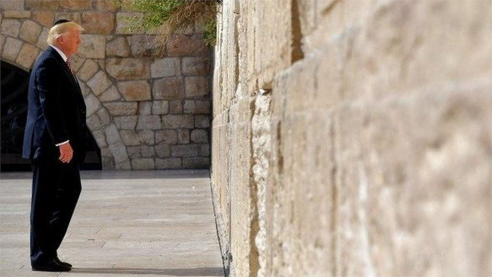 US President Donald Trump, visiting Jerusalem in May 2017