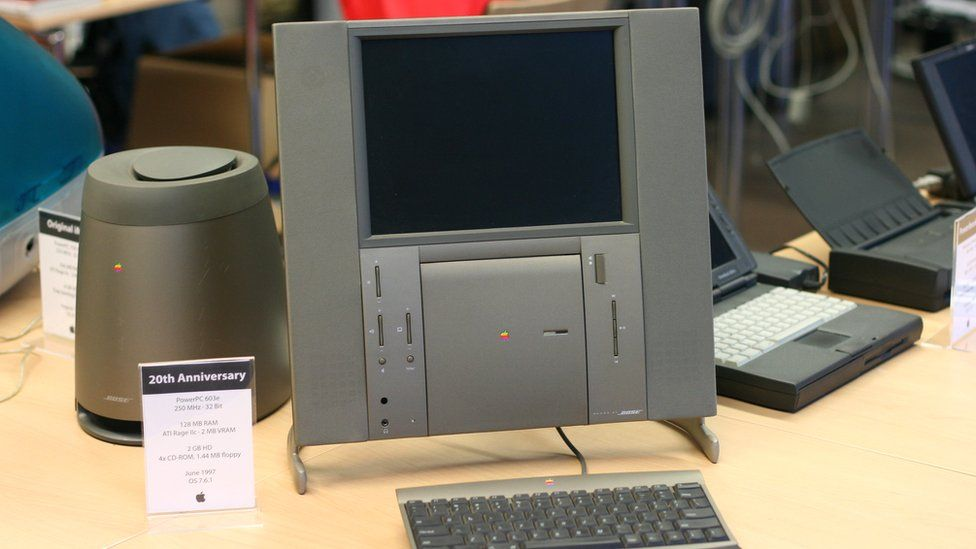 The Apple Tam on display