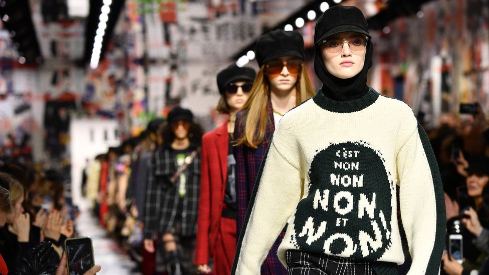 Dior presented slogans again in their A/W 18 collection