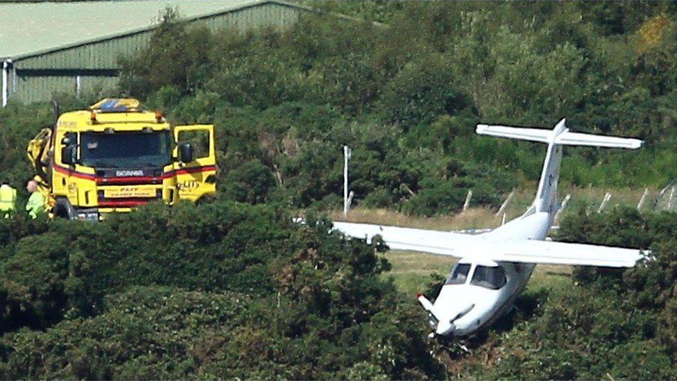 Aircraft at Oban Airport