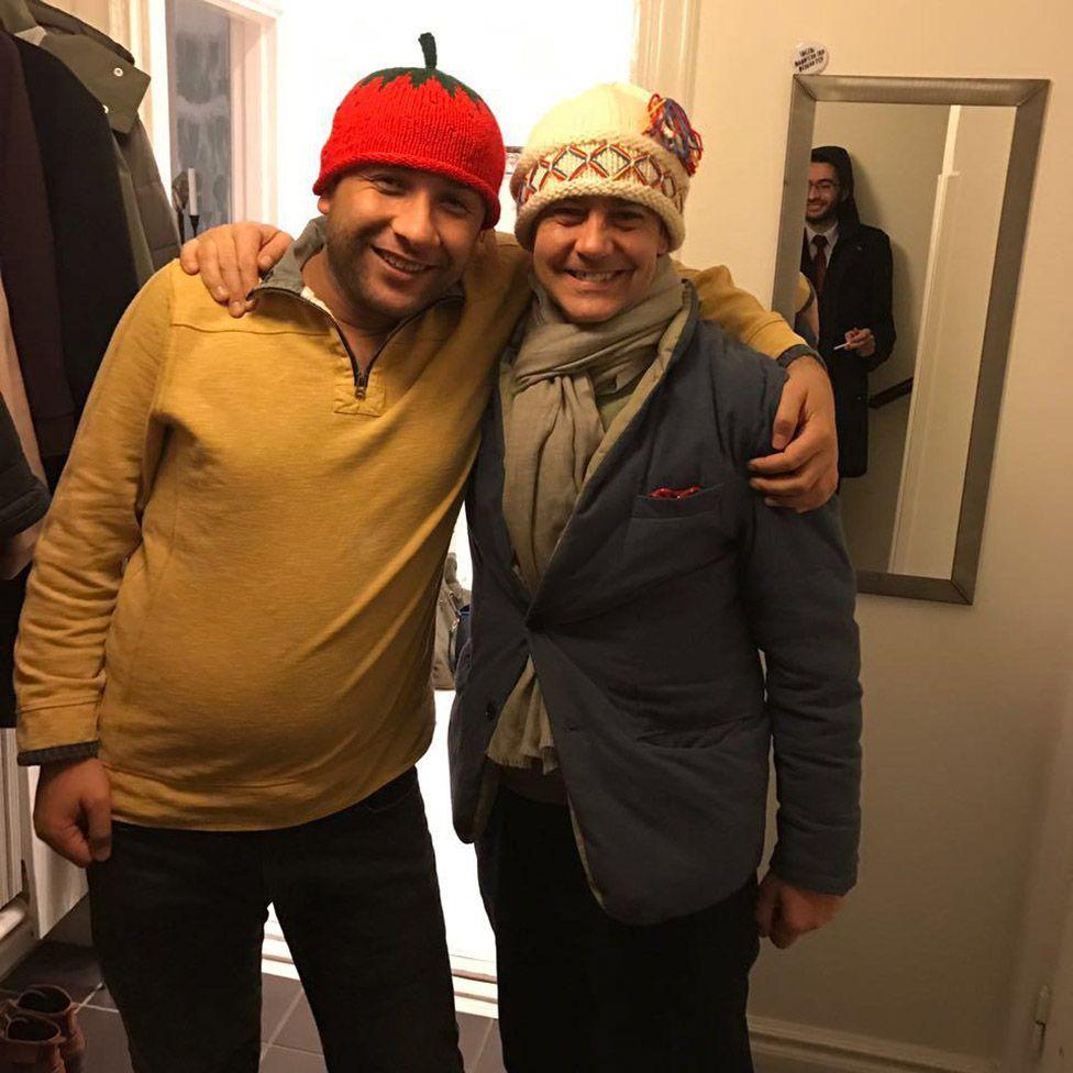 Raed Salah with James Le Mesurier