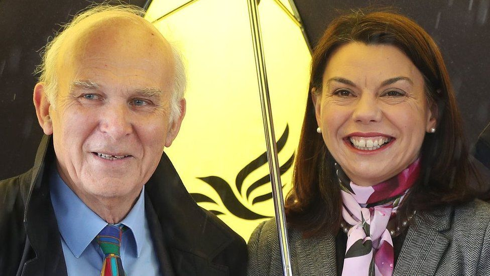 Vince Cable and Sarah Olney