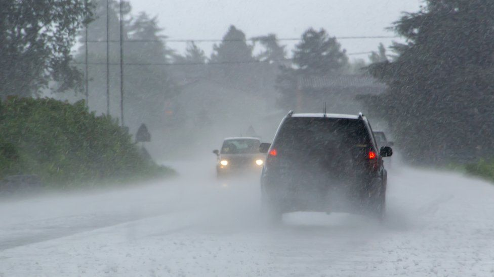 Cars in storms