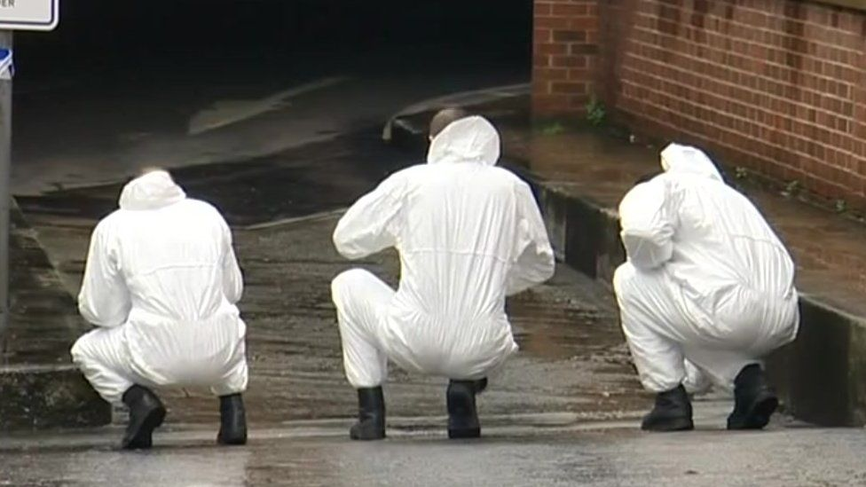 Forensics team working