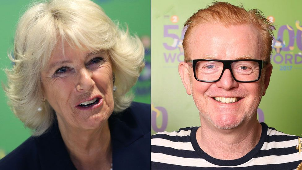 The Duchess of Cornwall and Chris Evans