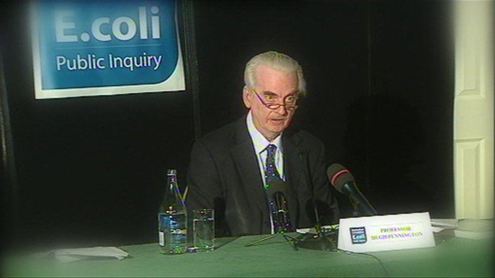 Prof Hugh Pennington at the E. coli inquiry