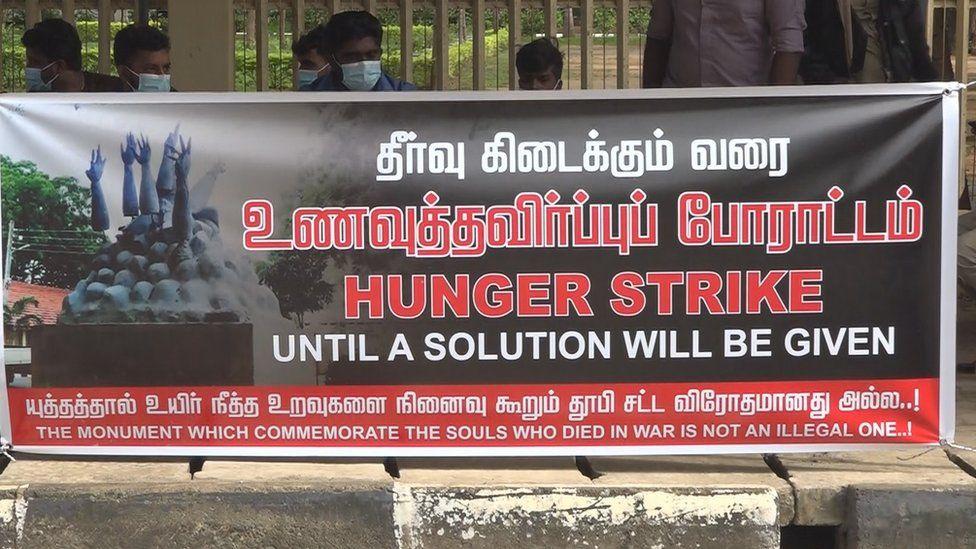 Hunger strike banner