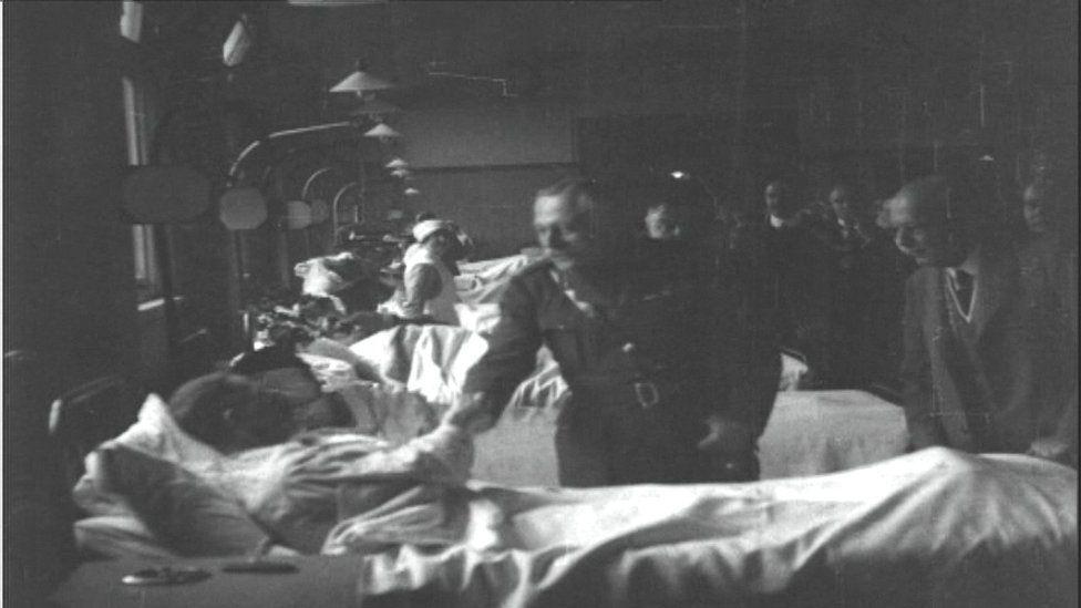 Earl Haig at Broughton House Military Hospital