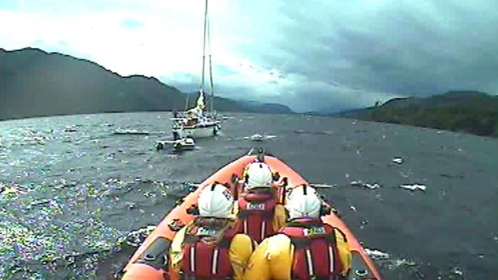 Loch Ness RNLI on one of Wednesday's rescues