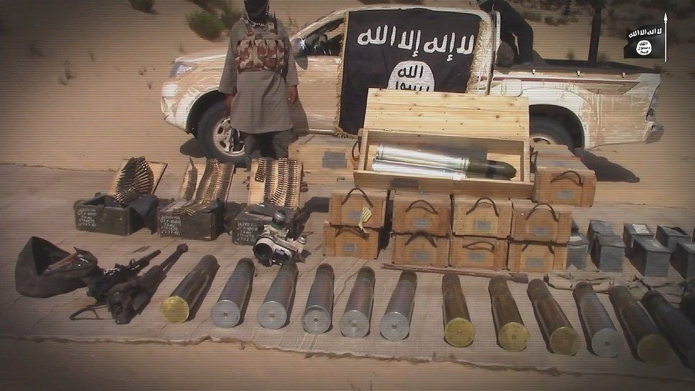 IS Sinai showcases weapons