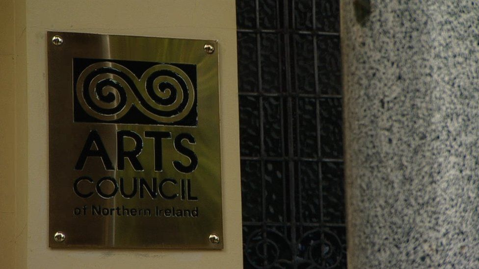 A sign that reads: The Arts Council of Northern Ireland