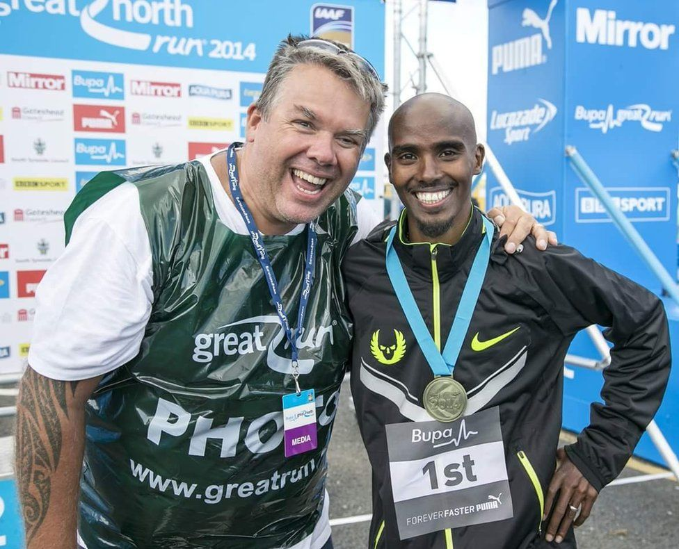 Mark Winterbourne and Mo Farah
