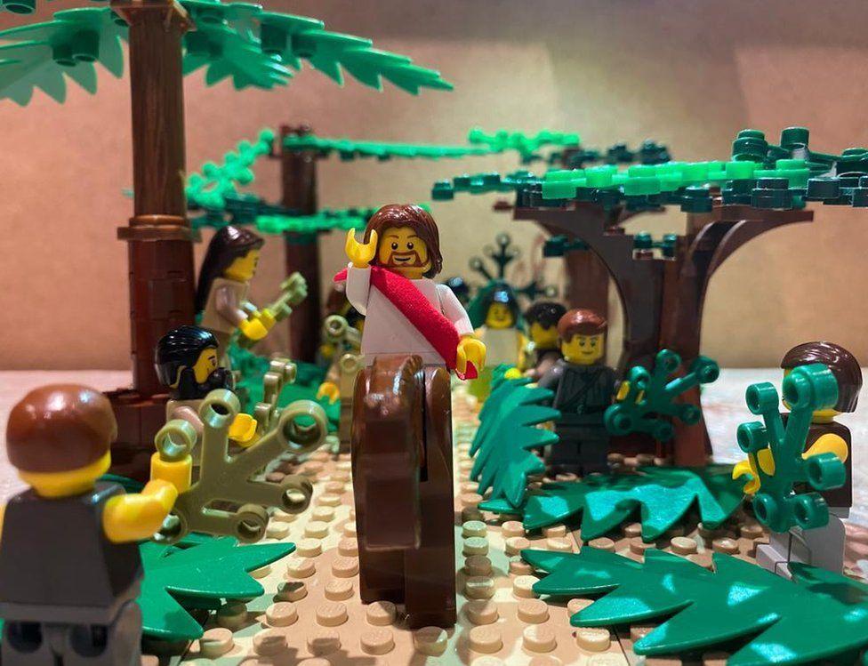 Palm Sunday recreated in Lego