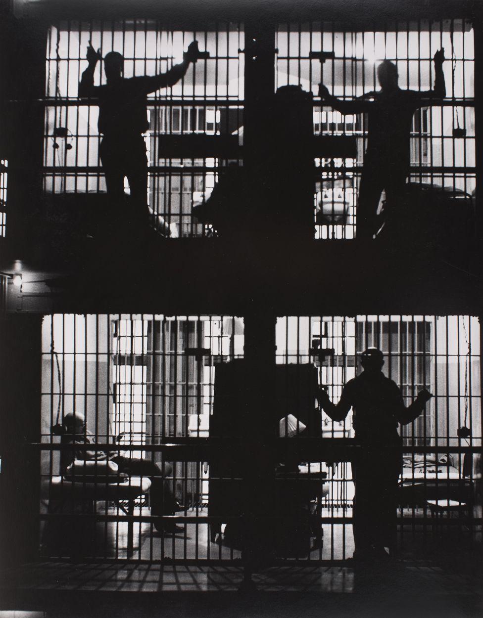 Prison cell block - Jackson, Michigan, 1953