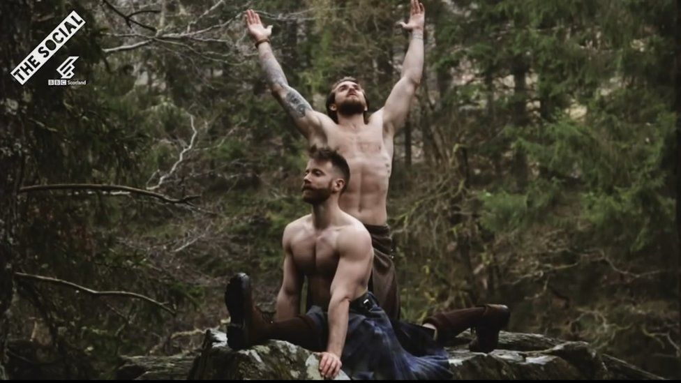 Finlay Wilson, left, and Tristan Cameron-Harper at The Hermitage near Dunkeld