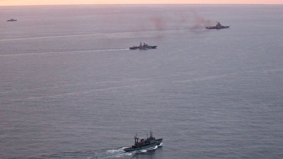Russian task force ships, 17 Oct 16