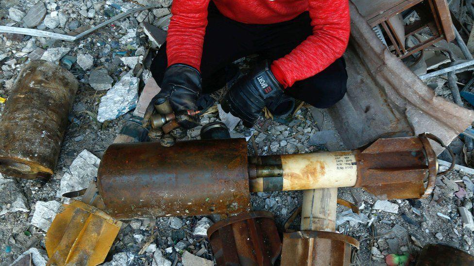Remnants of a rocket