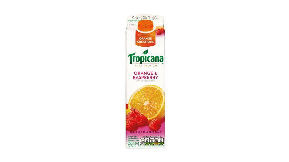 A carton of Tropicana