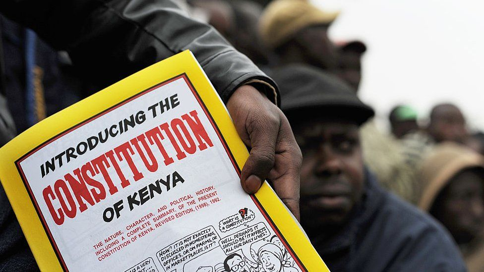 A draft copy of Kenya's constitution - 2010
