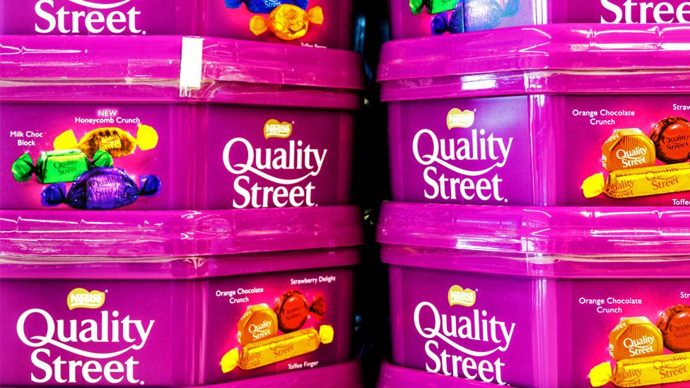 Boxes of Quality Street