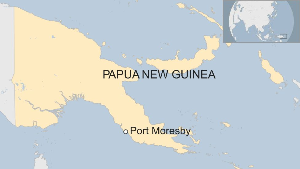 Map of Papua New Guineau