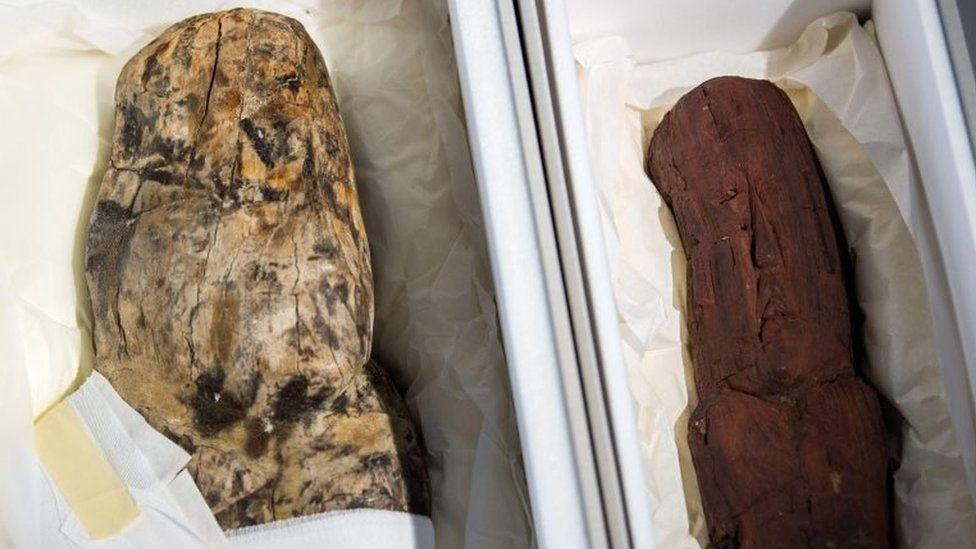 Por qué las dos estatuas de 3.000 años que Alemania devolvió a México son consideradas únicas