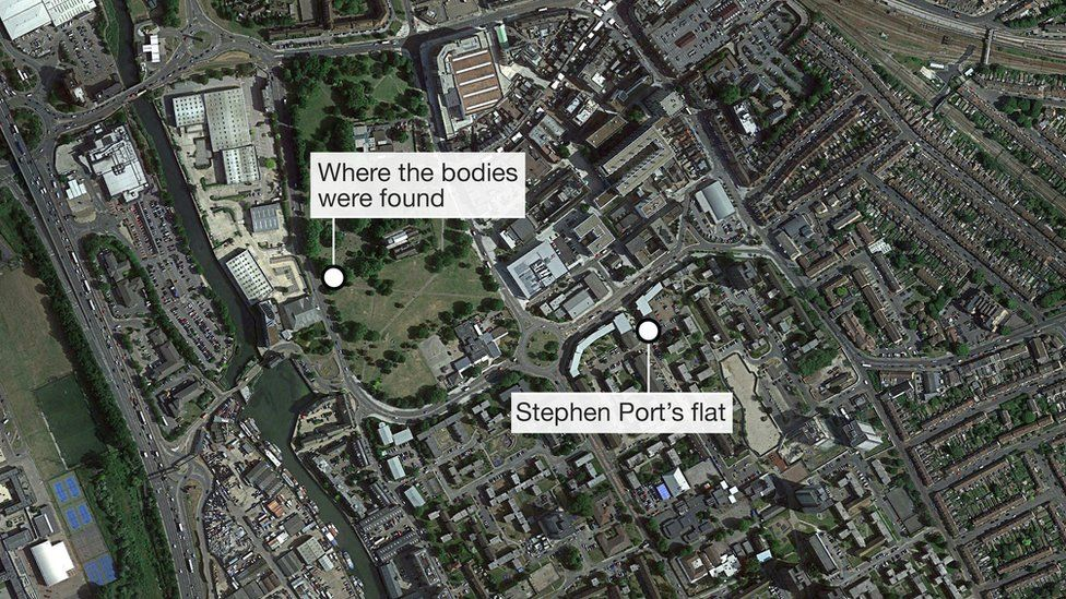 Map showing the proximity of St Mary's church to Stephen Port's flat