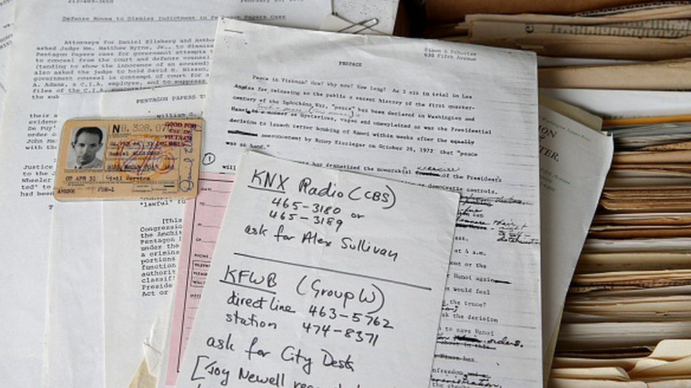 Papers belonging to Daniel Ellsberg