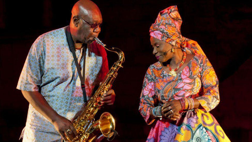 Manu Dibango with Angelique Kidjo