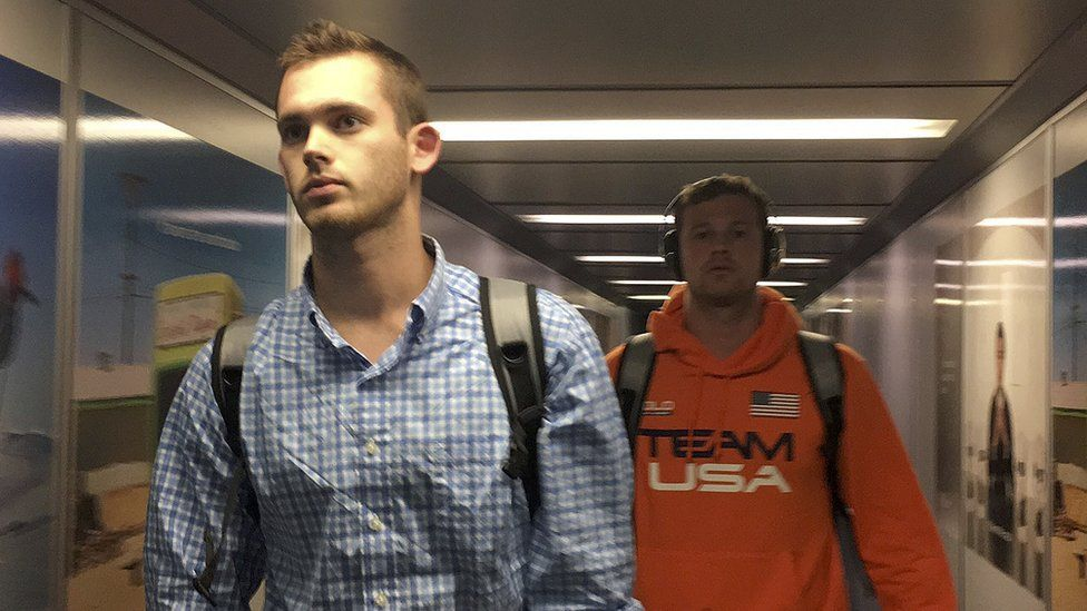 Gunnar Bentz and Jack Conger arriving in the airport on 19 August 2016
