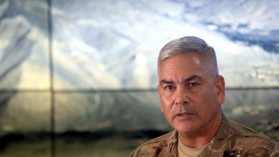 General John Campbell at a press conference on 25 November 2015