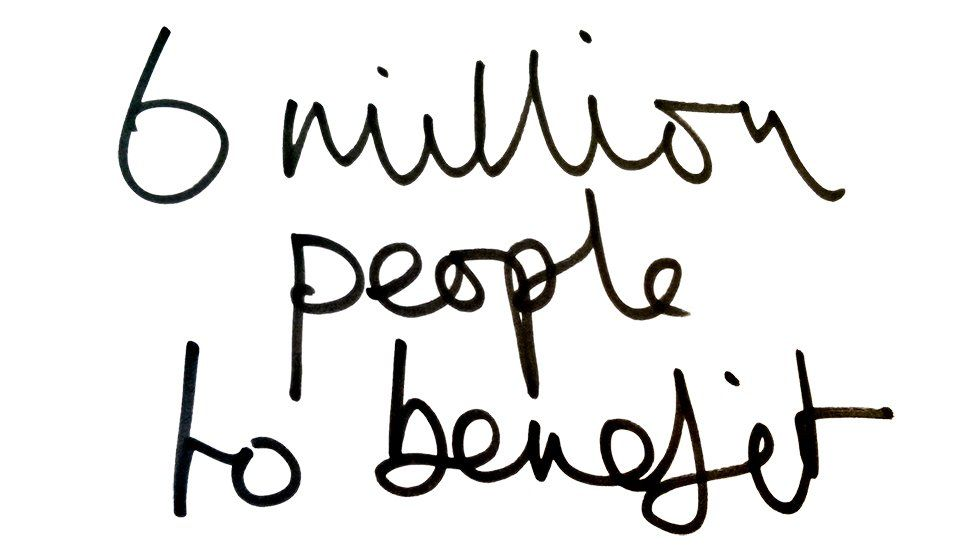 6 million people to benefit