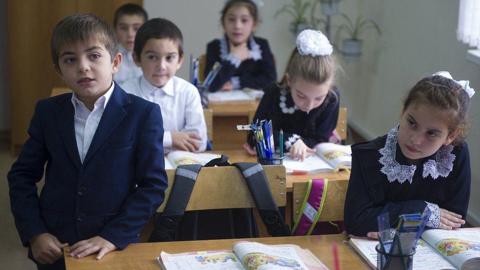 Russian schoolchildren in Caucasus, file pic - 28 Oct 16