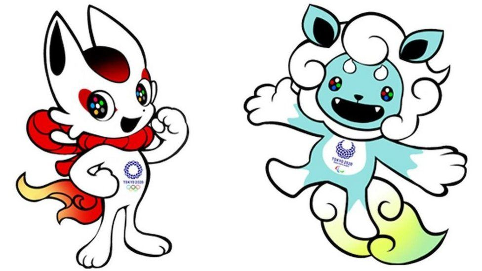 Images of potential Olympics and Paralympics mascots for Tokyo 2020