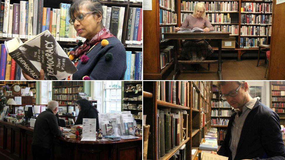 (From top left, clockwise) Members Nad Fiorrucci, Angela Beaumont, Andrew Graham and librarian Jane Riley