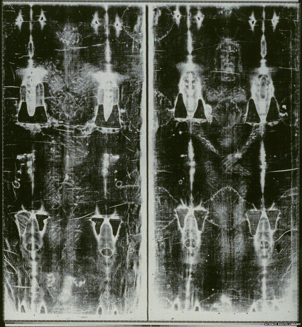 Image processed photo of Turin Shroud