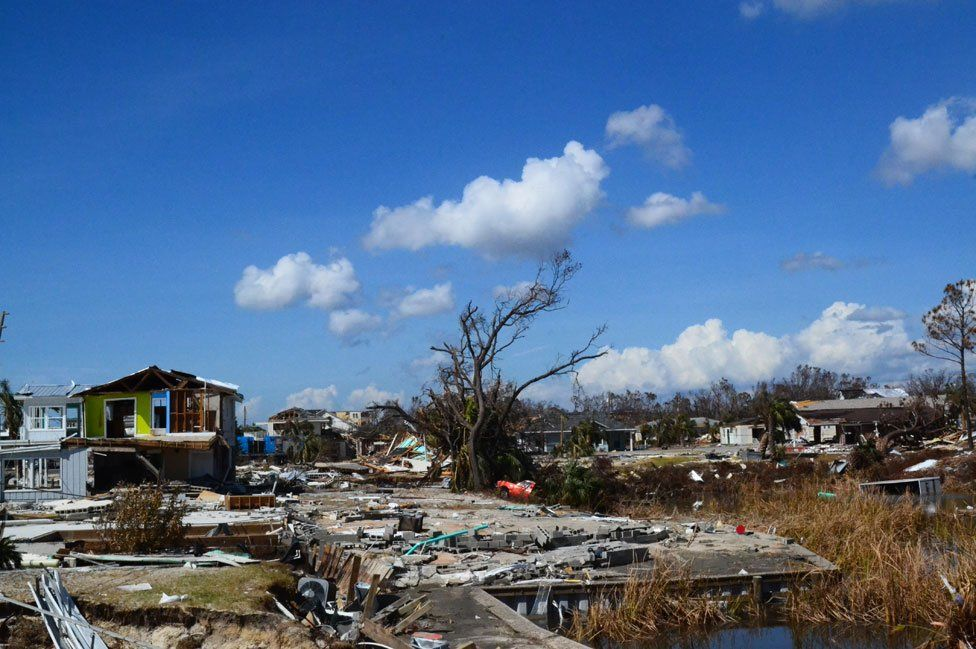 Flattened home in Mexico Beach
